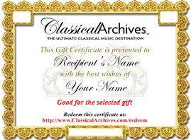 Sample gift from Classical Archives.